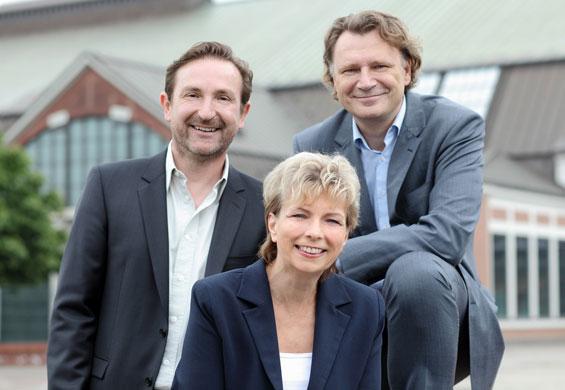 Claus Friede, Marc Frenzel, Isabelle Hofmann (Foto: Steven Haberland)