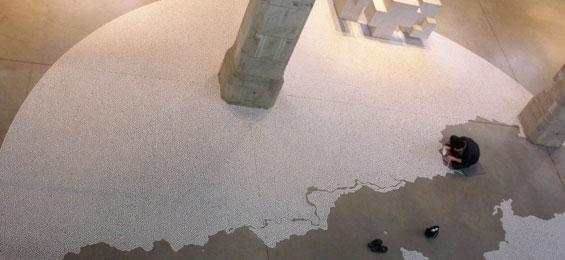 Salz im Kirchenraum von St. Peter