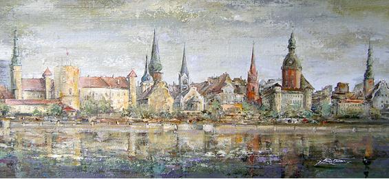 Rolands Bruno Butāns – Ein Maler verliebt in seine Heimatstadt Riga