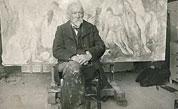 Paul Cézanne, atelier des Lauves, Aix-en-Provence (France) par Émile Bernard, 1904.