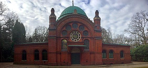 Jüdische Friedhofskultur in Hamburg: Der Jüdische Friedhof Ohlsdorf - Trauerhalle