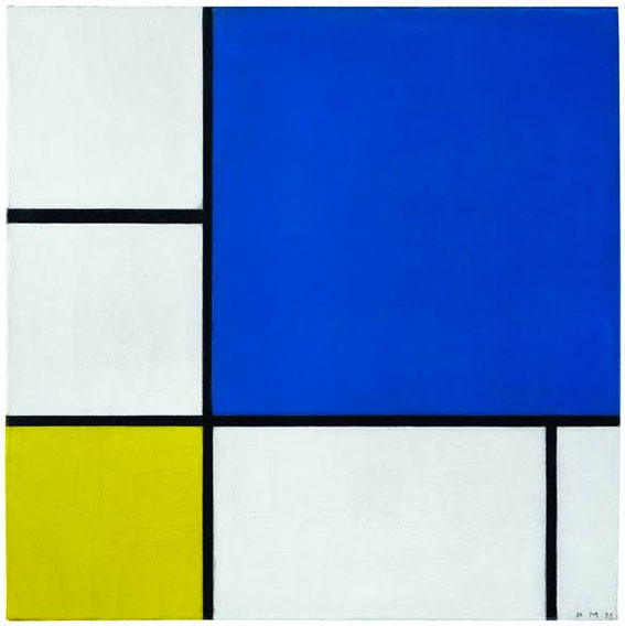quadrate und rechtecke in rot gelb und blau mondrian. Black Bedroom Furniture Sets. Home Design Ideas