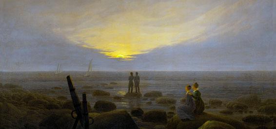Friedrich Mondaufgang am Meer