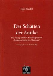 Egon Friedell: Der Schatten der Antike Buchumschlag
