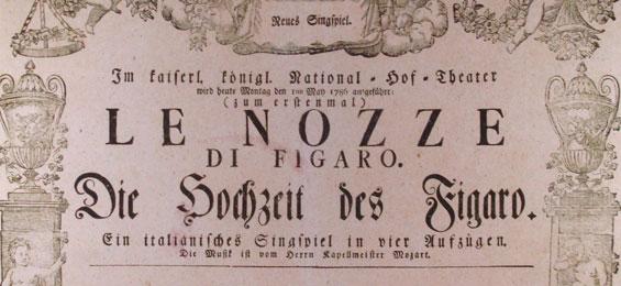 """Detail aus einem Originalplakat für Wolfgang Amadeus Mozarts Oper: """"Die Hochzeit des Figaro"""""""