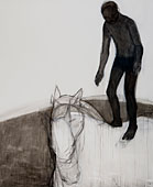 Pferd und Reiter I, 2009 ,Oil and watercolor on paper