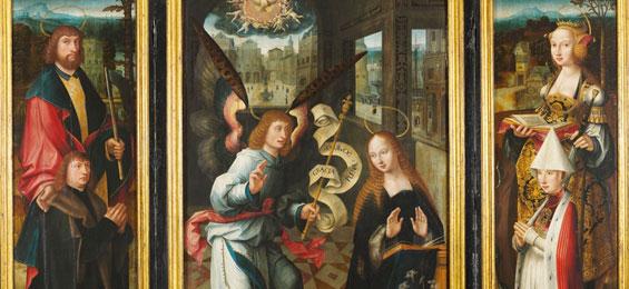 St. Annen-Museum, Gavnø-Retabel von Jacob van Utrecht