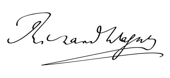 Signatur Richard Wagner