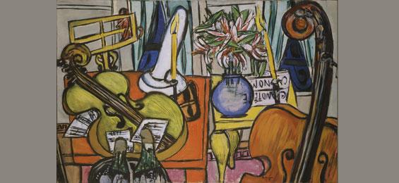 Max Beckmann (1884-1950)  Stillleben mit Cello und Bassgeige