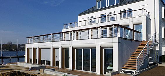 das neue Clubhaus des Norddeutschen Regatta Vereins in Hamburg