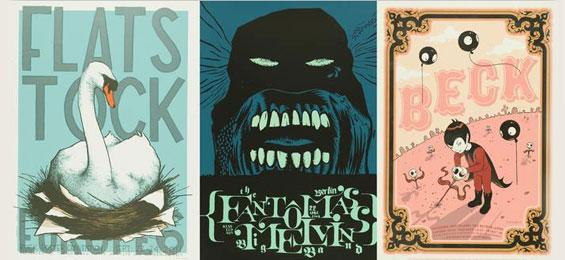 Poster Rock. Gig-Poster und die Flatstock Convention