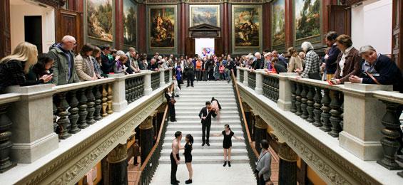 """Back to the roots"" – der historische Eingang der Hamburg Kunsthalle reloaded"
