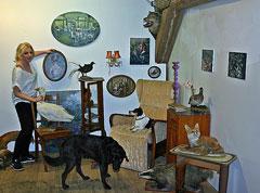 Malerei von Justine Otto im Zehntspeicher in Gartow