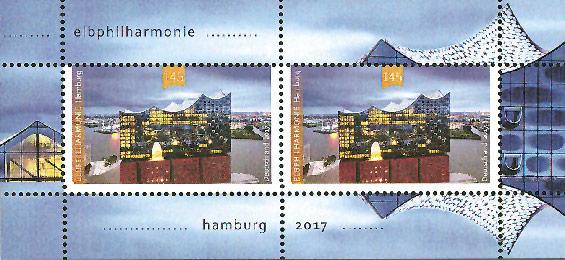 Die Elbphilharmonie wird durch eine Briefmarke gewürdigt