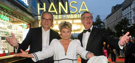 Stargast Gitte Haennig eröffnet im Hansa Varieté Theater Hamburg die 12. Spielzeit
