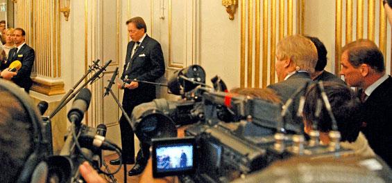 Literaturnobelpreisverkuendung 2008 Foto: Holger