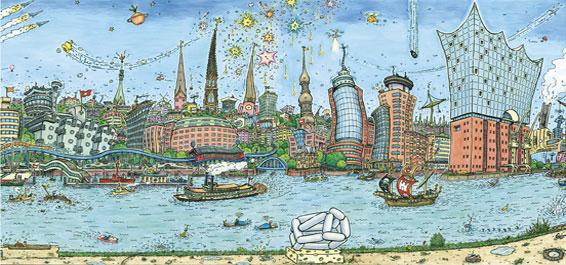 Hamburg Total 2 – Comic-Ausstellung von Ulf Harten mit DM Trocken