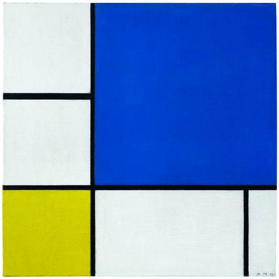 """Quadrate Und Rechtecke In Rot, Gelb Und Blau: """"Mondrian"""